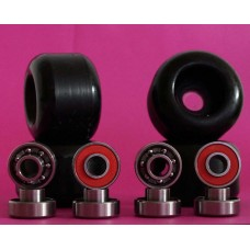 SET WHEELS / BEARINGS 52mm / 98A